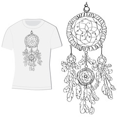 t-shirt design with dreamcatcher