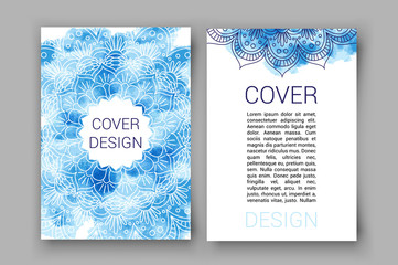 template brochure pages ornament vector illustration. traditional Islamic, Arabic, Indian, cover elements. decorative card for print or web design, spa salon, yoga studio