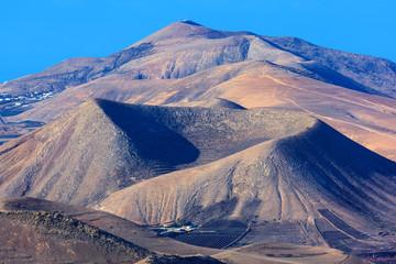 Landscape of volcanoes.
