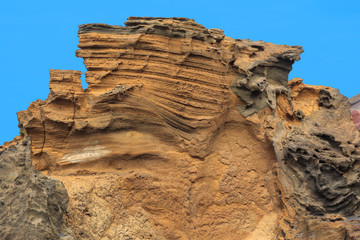 Limestone formations. Beach of El Golfo.
