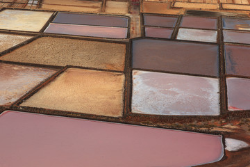 Colors in the salt flats of Janubio.