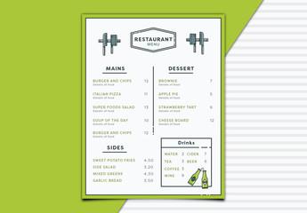Minimalist Restaurant Menu 1