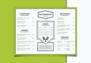 Minimalist Restaurant Menu 2