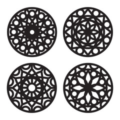 Geometric decorative mandala designs.
