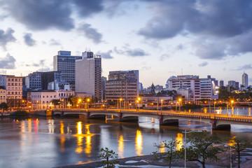 The skyline of Recife in Pernambuco, Brazil.