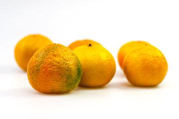 Tasty organic tangerines on a table
