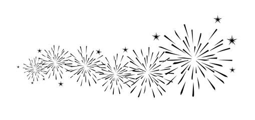 Feuerwerk Dekoration Schwarz
