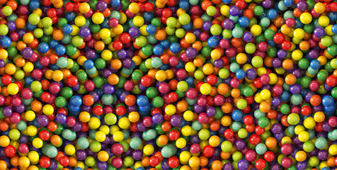 Colorful Rainbow dragee balls background. Photo Pattern design for banner, poster, flyer, card, postcard, cover, brochure. High Resolution.