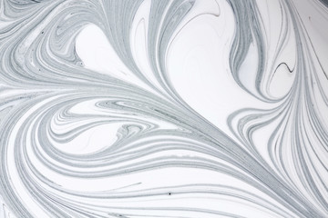 Mix of a white and black paint