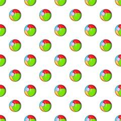 Childrens ball pattern. Cartoon illustration of childrens ball vector pattern for web
