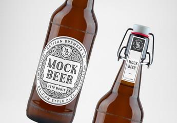 Maquettes de bouteille de bière