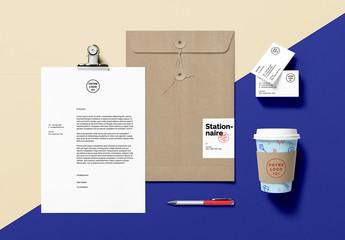 Maquette de scène de branding pour papier à lettres