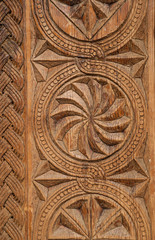 background of carving on wooden surface