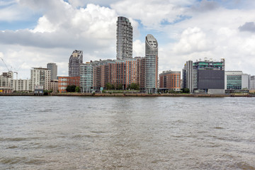 Canary Wharf view from Greenwich, London, England, Great Britain
