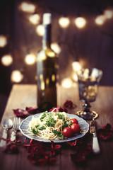 Classic dinner, italian pasta