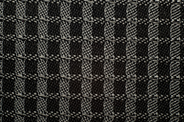 Perforated texture black textile pattern