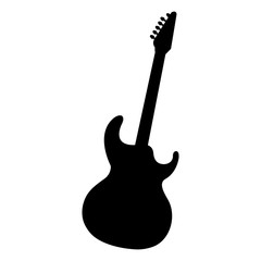 electric guitar instrument musical vector illustration design
