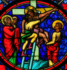 Stained Glass - Jesus taken from the Cross