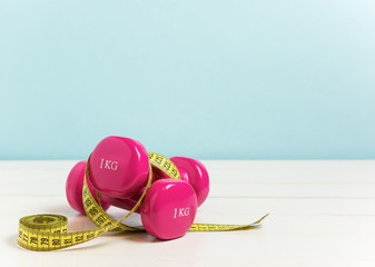 Concept for exercise to lose weight and get in shape