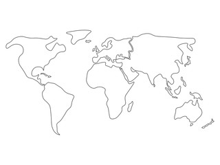 Search Photos Map Continent - Blank map of continents to label