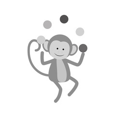 monkey juggling cartoon icon vector illustration graphic design