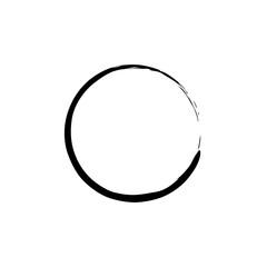 Black Enso Zen Circle on White Background. Vector illustration