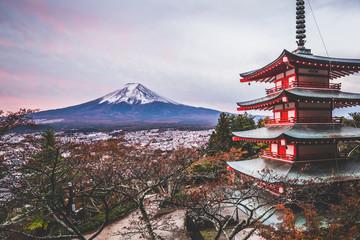 Wall Mural - Mount Fuji, Chureito Pagoda in Autumn