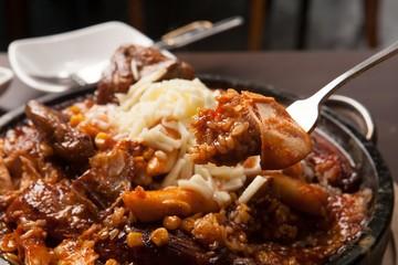 누룽지통닭, nurungji tongdak, crust of overcooked rice