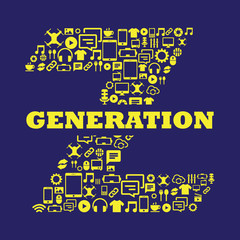 Generation Z with icons inside