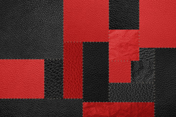 Black and red patch pattern texture background