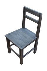 old wooden chair isolate on white background