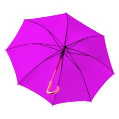 parasol violet sur fond blanc