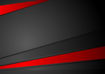 Tech black background with contrast red stripes