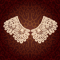 Vintage lace detachable collar-necklace.