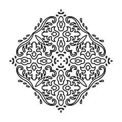 Ornate mandala round pattern.