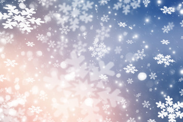 Christmas background with snowflakes
