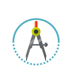Compass in Circle Icon