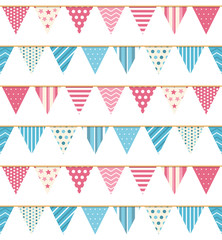 Bunting Seampless Pattern