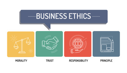 BUSINESS ETHICS - LINE ICONS CONCEPT