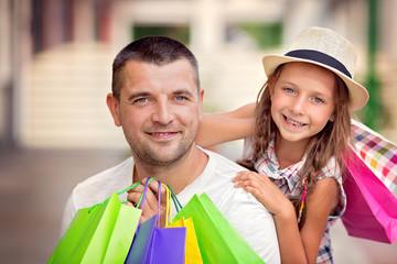 Shopping, family concept
