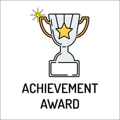 ACHIEVEMENT AWARD Line icon