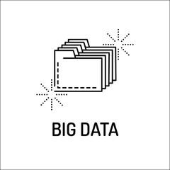 Big Data Line Icon