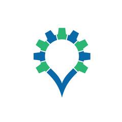 oil industry gears logo