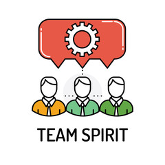 TEAM SPIRIT Line icon