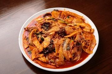 ddukboki, korean style food