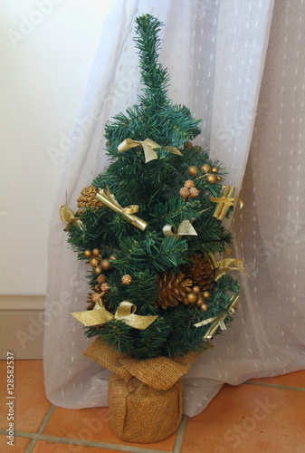petit sapin de no l artificiel stock photo and royalty