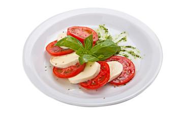 Caprese salad -  traditional italian food.