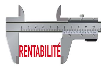 Rentabilité - mesurer - productivité - investissement