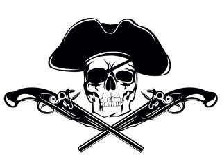 skull in cocked hat