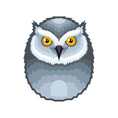 Owl Bird Icon on White Background. Vector